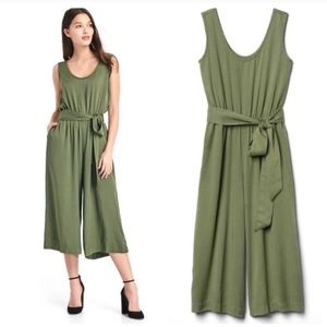 Gap olive green jumpsuit